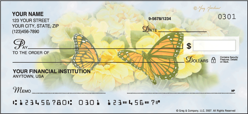 Butterfly Blooms Checks - click to preview