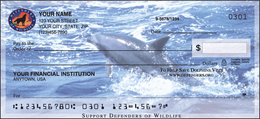 defenders of wildlife - dolphins checks - click to preview