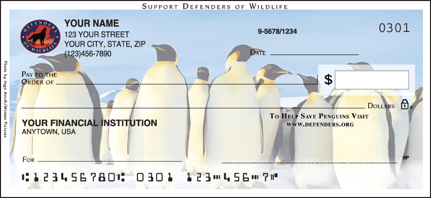 Defenders of Wildlife - Penguins Checks - click to view larger image