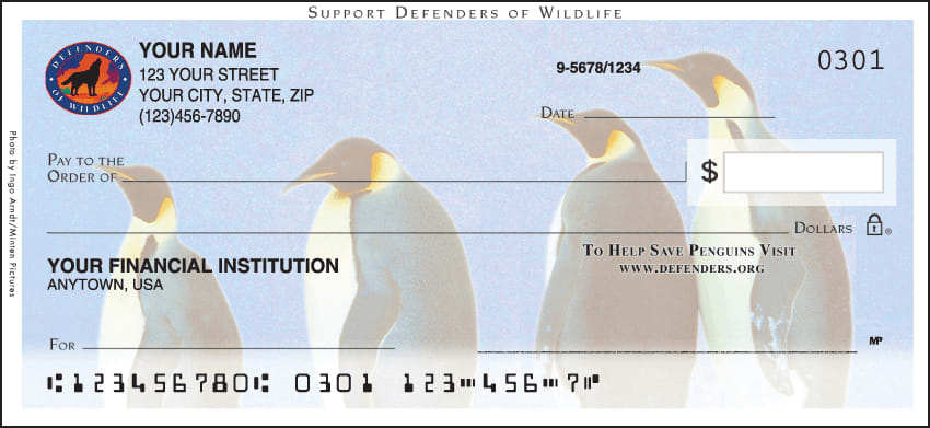 defenders of wildlife - penguins checks - click to preview