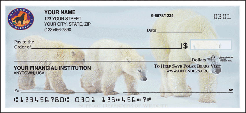 Defenders of Wildlife - Polar Bears Checks - click to view larger image
