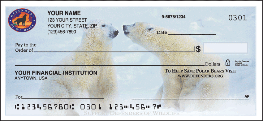 defenders of wildlife - polar bears checks - click to preview