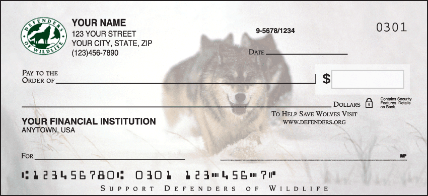 Defenders of Wildlife - Wolves Checks - click to preview