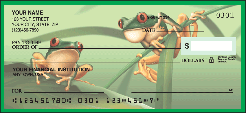 Frogs Checks - click to view larger image