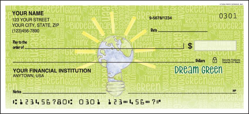 Green Living Checks - click to preview