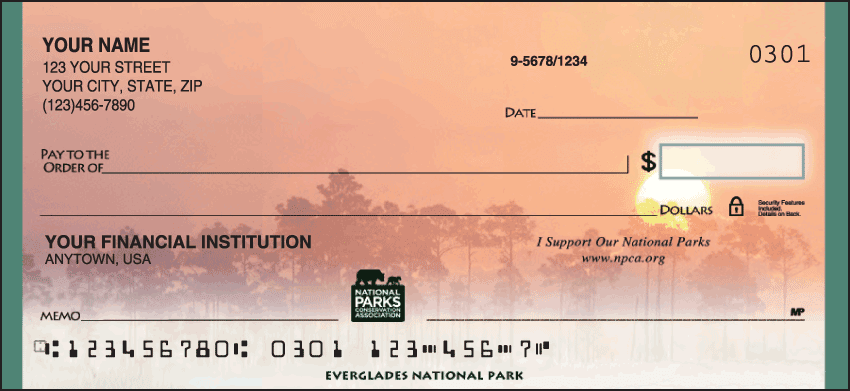 national parks conservation association checks - click to preview