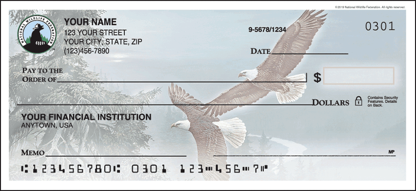 National Wildlife Federation Eagles Checks - click to view larger image