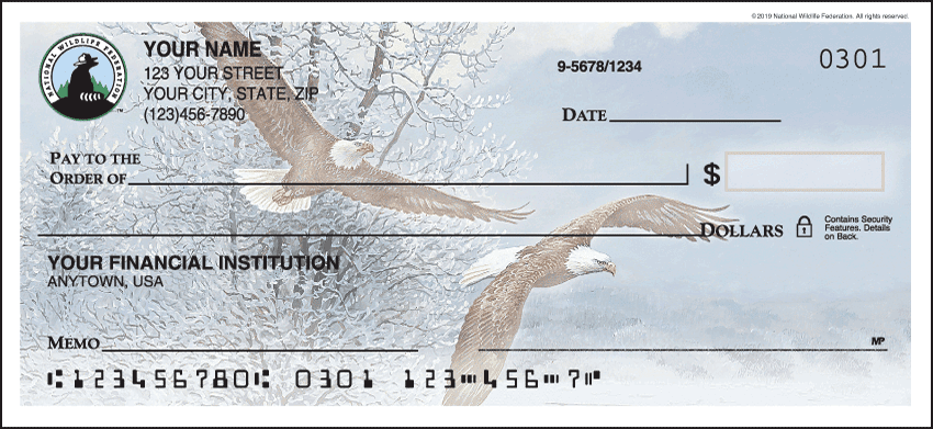 national wildlife federation eagles checks - click to preview