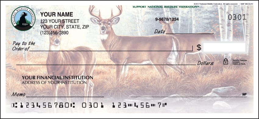 National Wildlife Federation Wildlife Checks - click to view larger image