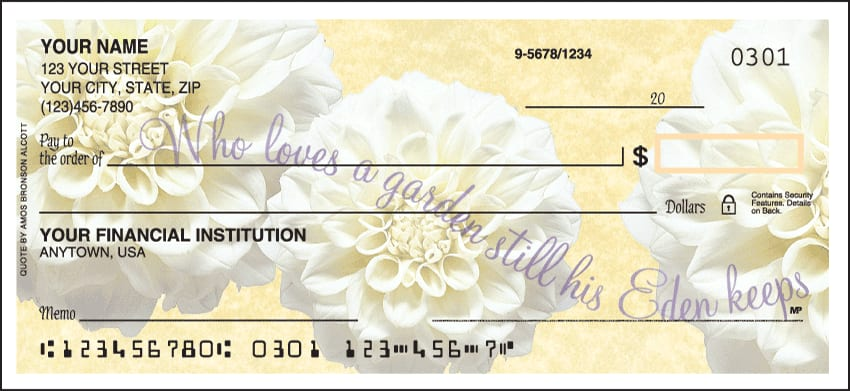 Petals from Heaven Checks - click to view larger image