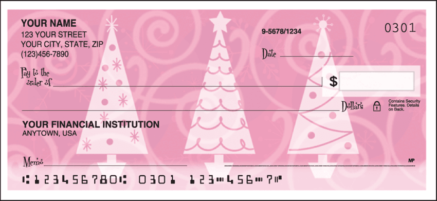 Retro Christmas Checks - click to view larger image