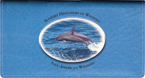 Defenders of Wildlife Dolphins Fabric Checkbook Cover – click to view product detail page