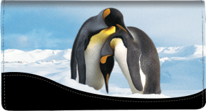 Defenders of Wildlife Penguins Fabric Checkbook Cover  – click to view product detail page