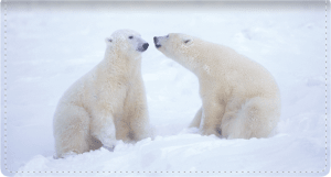 Defenders of Wildlife Polar Bears Fabric Checkbook Cover – click to view product detail page
