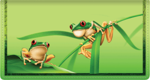 Frogs Leather Checkbook Cover – click to view product detail page