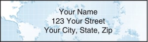 Globe Address Labels – click to view product detail page