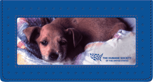 The Humane Society of the U.S. Fabric and Pleather Checkbook Cover – click to view product detail page