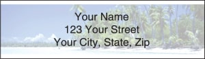 Island Paradise Address Labels – click to view product detail page