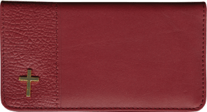 Leather Checkbook Cover with Cross Pin – click to view product detail page
