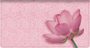 Lotus Checkbook Cover – click to view product detail page