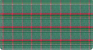 Enlarged view of pay it with plaid fabric checkbook cove