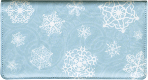 Snowflake Fabric Checkbook Cover – click to view product detail page