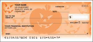 Enlarged view of halloween checks