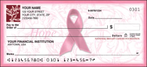 Enlarged view of ribbon of hope checks