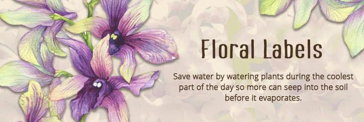 Floral Address Labels