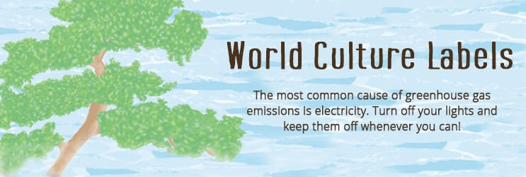 World Culture Address Labels
