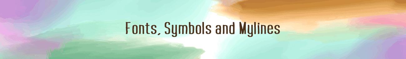 Fonts, Symbols, MyLines