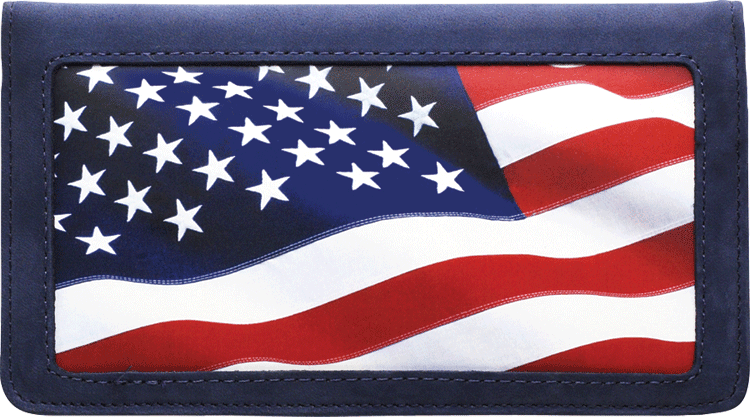 American Reflections Leather Checkbook Cover