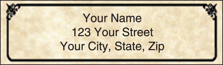 Antique Address Labels - click to view larger image