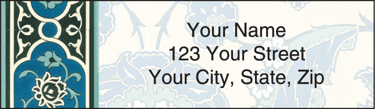 arabesque address labels - click to preview