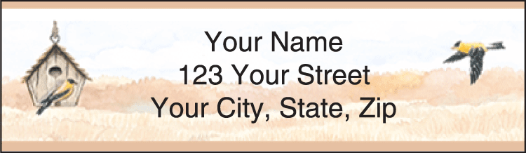 backyard birds address labels - click to preview