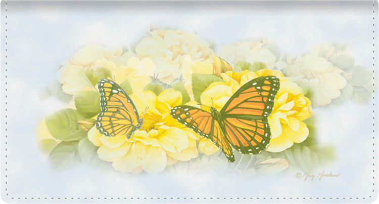 Butterfly Blooms Checkbook Cover - click to view larger image