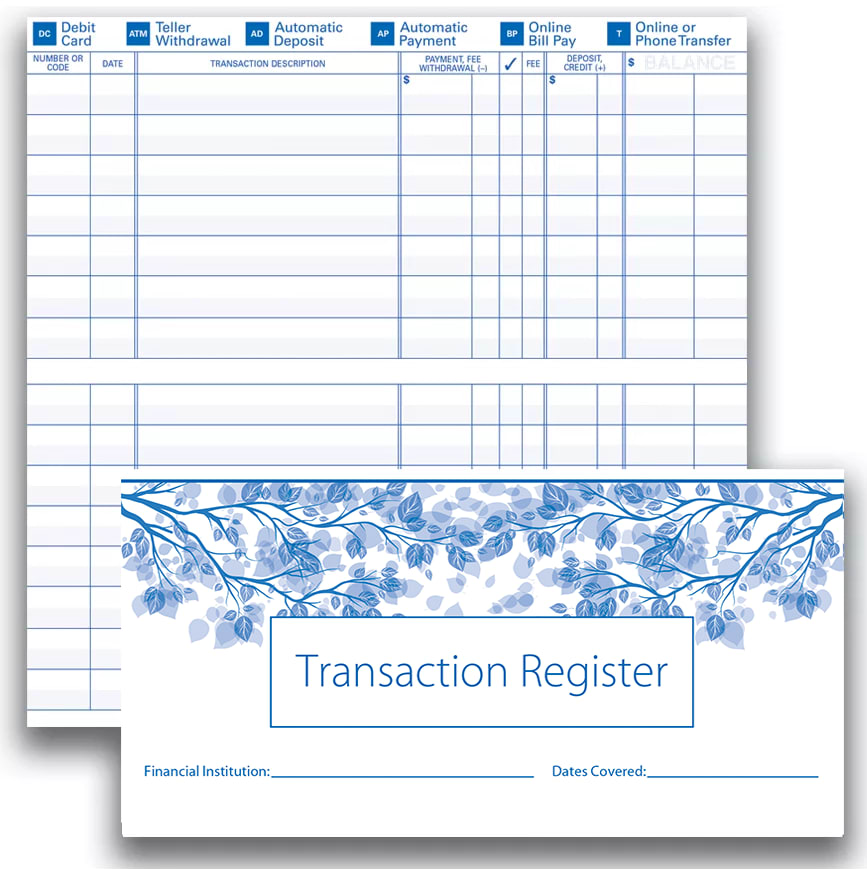 Enlarged view of Check Register
