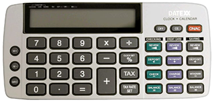 Enlarged view of Checkbook Calculator