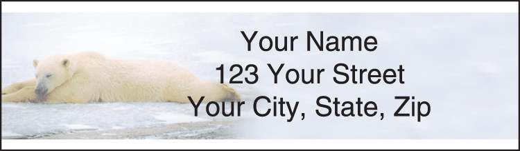 defenders of wildlife - polar bears address labels - click to preview