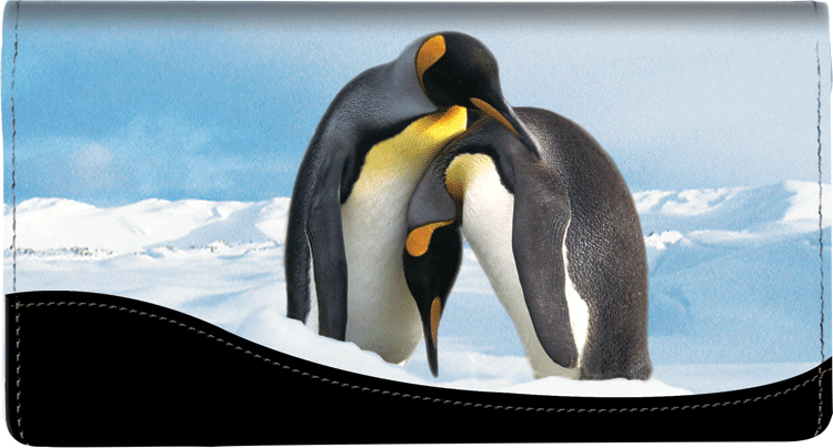 Defenders of Wildlife Penguins Fabric Checkbook Cover