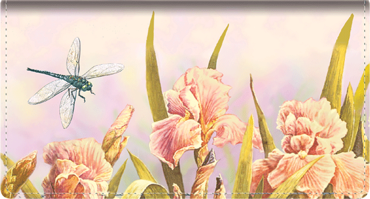 Dragonflies Leather Checkbook Cover - click to view larger image