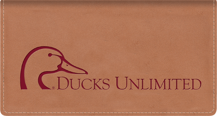 Ducks Unlimited Leather Checkbook Cover - click to view larger image