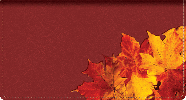 Foliage Leather Checkbook Cover - click to view larger image