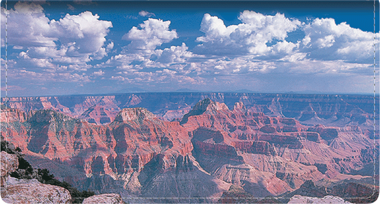 Grand Canyon Fabric Checkbook Cover - click to view larger image