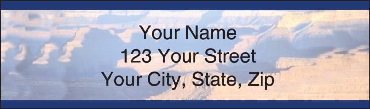 Grand Canyon Address Labels - click to view larger image