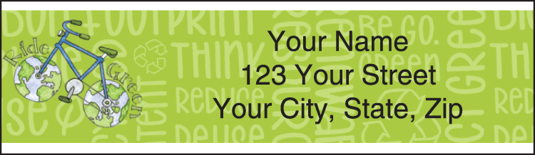 Green Living Address Labels - click to preview