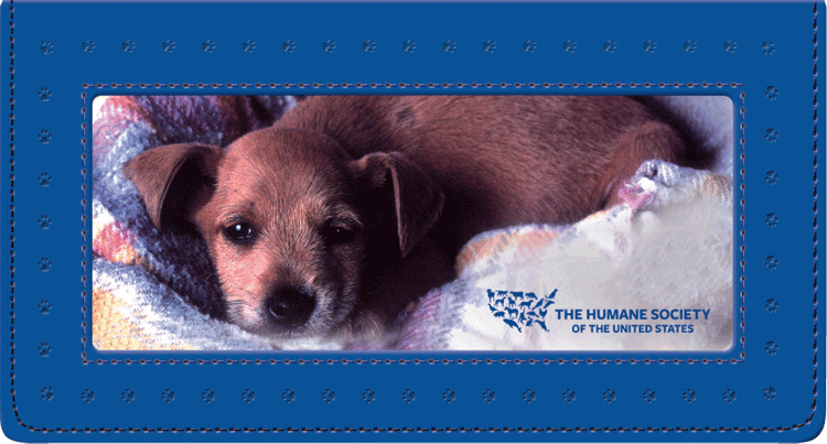 The Humane Society of the U.S. Fabric and Pleather Checkbook Cover