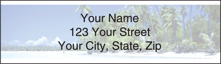 Island Paradise Address Labels