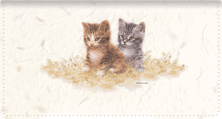 Kittens Fabric Checkbook Cover