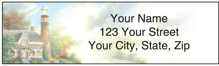 light the way address labels - click to preview